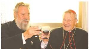 Primatul Ciprului Hrisostomos +ƒi cardinalul Walter Kasper